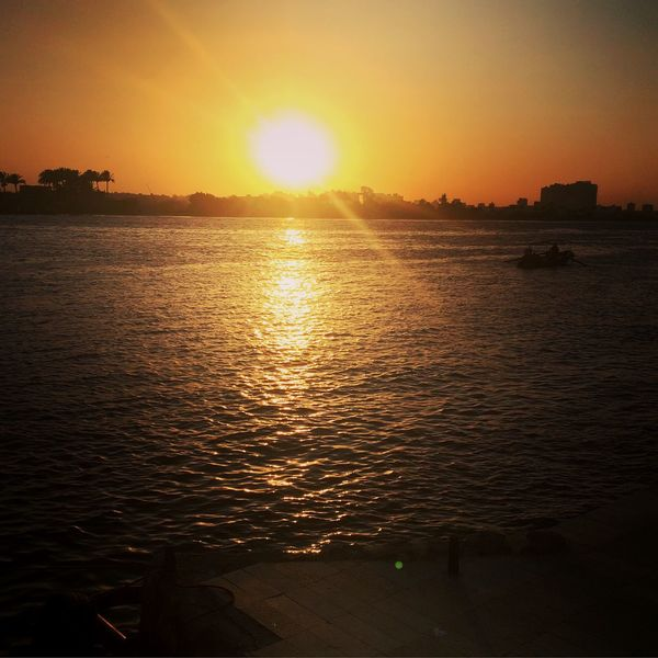 Beauty In Nature Nile River Maadi Cairo Egypt Sunset Water Sun Sky