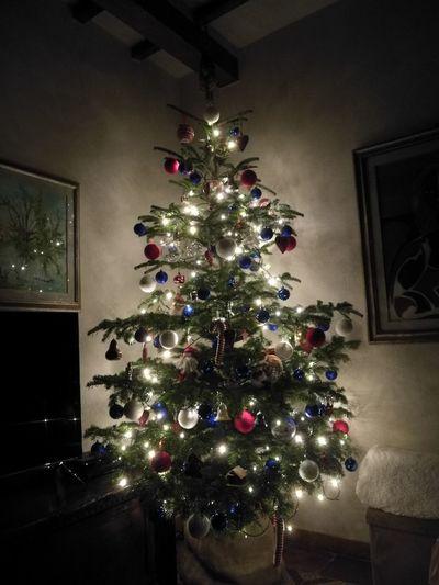 Xmas Christmas Balls Christmas Lights Tree Home Interior Indoors  No People Holiday - Event Illuminated