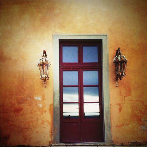 Door Castle Lobkowicz Vintage Sky Glass Art