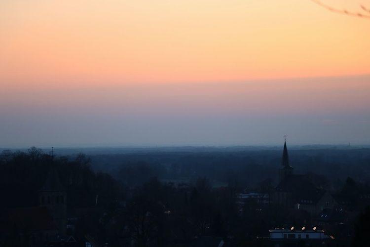 Sunset City Fog