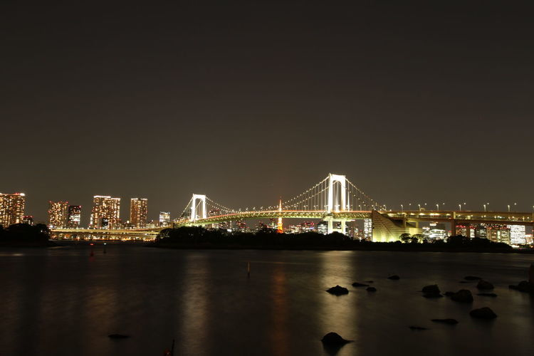 Tokyo Bridge Architecture Bridge Built Structure City Cityscape Connection Illuminated Night River Water