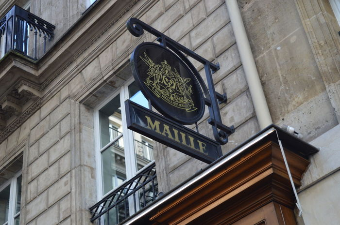 Architecture Building Exterior Built Structure City Day EyeEmNewHere France French Icon Iconic Buildings Low Angle View Luxurylife Maille Moutarde Mustard No People Outdoors Sign Signboard Storefront