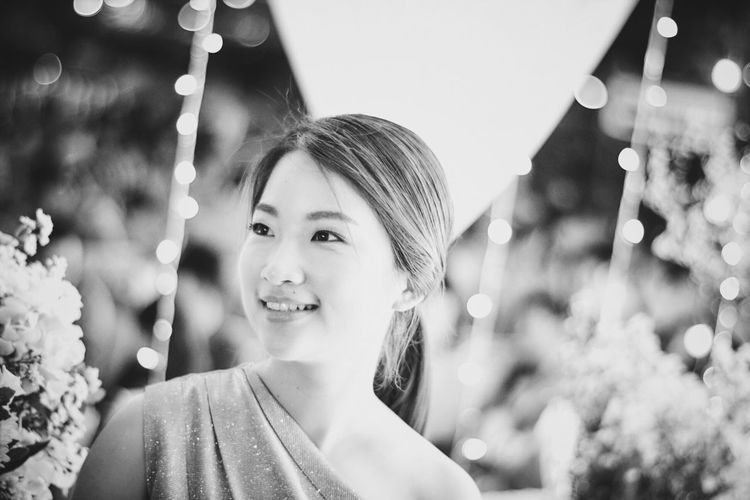 EyeEm Selects Asian girl portrait with boke background Happiness Smiling Headshot Celebration Beauty Girl Portrait Bokeh Photography Lifestyles Asian  Cute Fashion Beautiful Woman