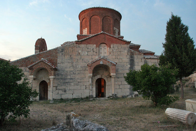 Orthodox monastery of Apollonia at sunset Albania Apollonia Orthodox Church Ortodoxmonastery View Architecture Building Exterior Built Structure Cross History No People Ortodox Ortodox Church Outdoors Place Of Worship Religion Spirituality Sunset Tree