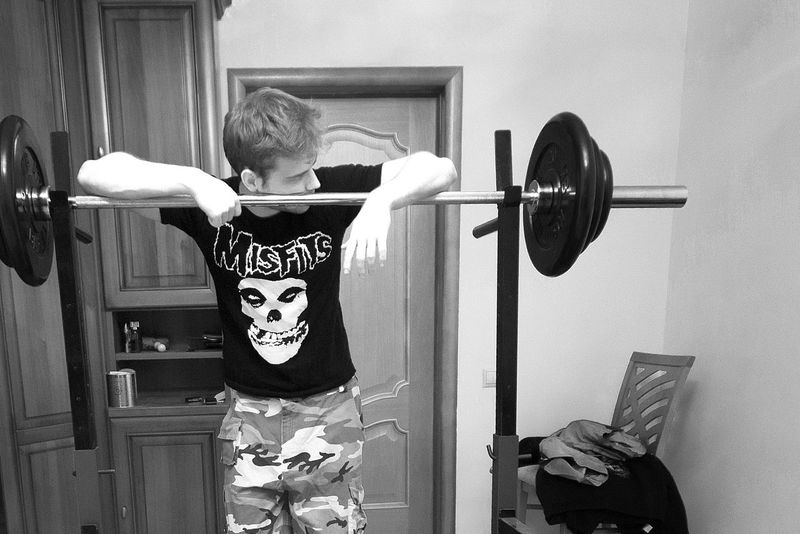 Black And White Blackandwhite BodyBuilder Bodybuilding Fit Fitness Fitness Training Hardcore/punk Indoors  Lifestyles Misfits Music One Person Sport Standing Punk Punkrock Punk Rock
