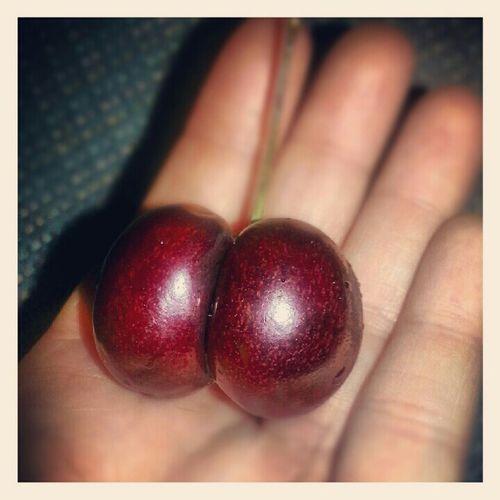 I got a butt cherry! #fruit #awesome