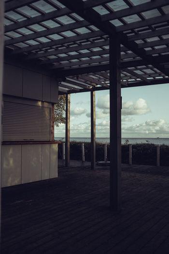 Interior of building against sky
