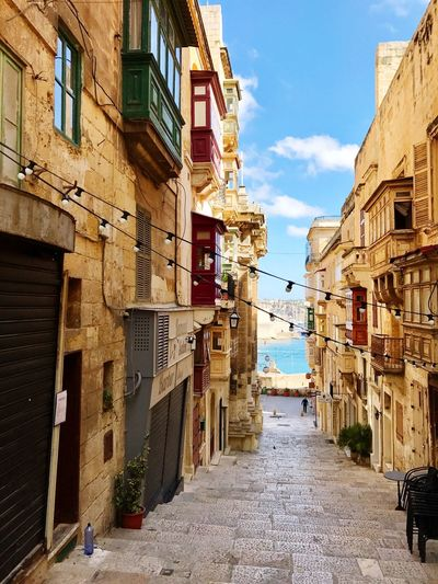 la valetta sightseeing Malta Valetta City Street No People Outdoors Architecture The Way Forward The Way To The Sea Stairs Alleyway Balcony Historic