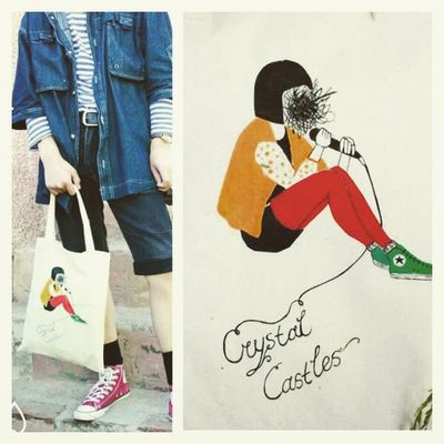 I made a few handmade bags last summer with my team. @_alice_glass Aliceglass Crystalcastles Handmade Bag illustration streetfashion lookbook summertime fabric cotton bag Dusal © 2014 https://www.facebook.com/dusalasud