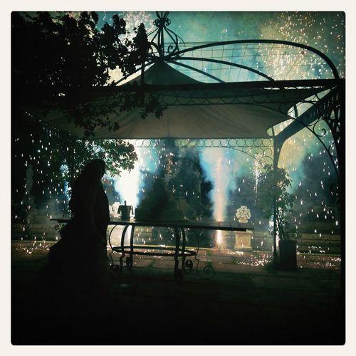 Wedding Party Fireworks Cake