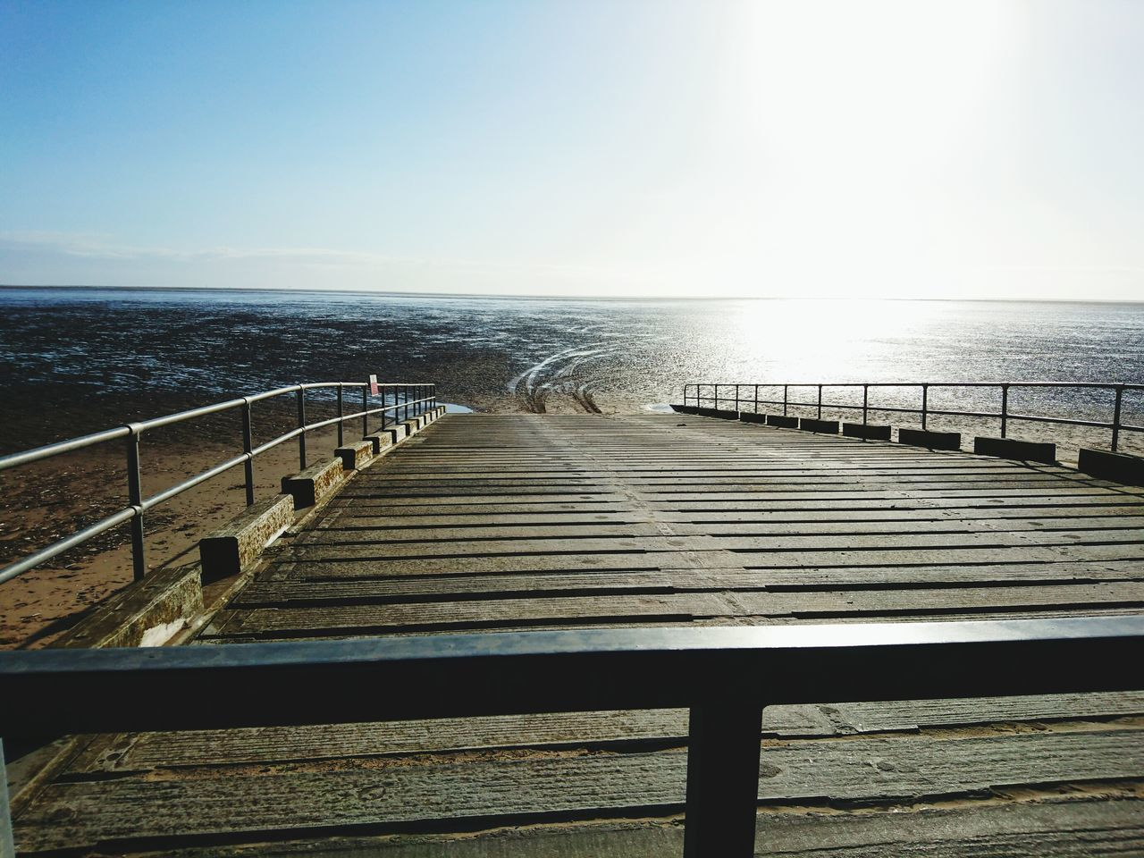 View Of Pier On Sea