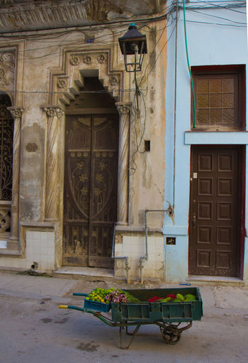 Architecture Cuba Door Entrance Fruit Stall Historic History Ruined