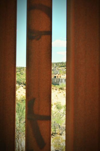 Looking into Mexico In The Middle Of Nowhere @ the Us Mexico Border