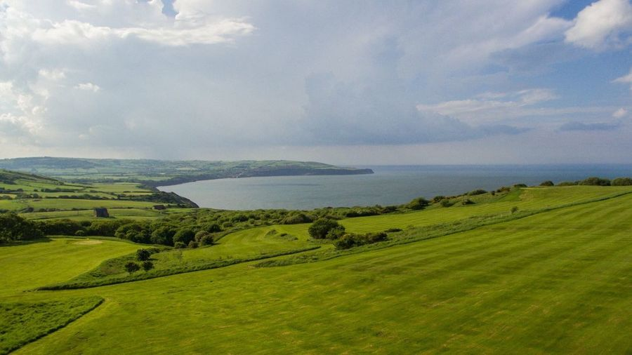 Scenics Green Color Beauty In Nature Nature Tranquil Scene Sky Landscape Tranquility Cloud - Sky Grass No People Field Idyllic Outdoors Day Water Sea Rural Scene Mountain Tree Coast Seaside Seaview Golf Course Robinhoods Bay