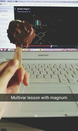 To even out the stress... Magnum Struggling Multivariable Icecream Need Of Help Summer