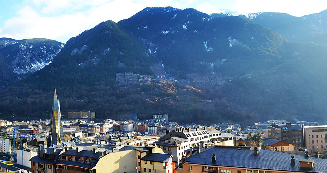 Andorra Andorra La Vella Andorralavella Balneario Caldea City Cityscape Cold Temperature Escaldes Landscape Mountain Mountain Range Nature Sky Snow Snow ❄ Spa Travel Destinations Urban Skyline