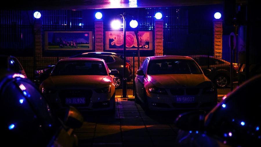 一从街边行过,好车知道不多,曾坐北京吉普,也识上海轿车。 cars Car Night City Land Vehicle Lighting Equipment Street Parking Lot