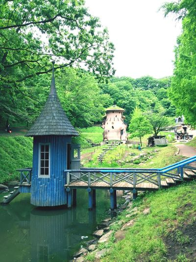 Moomins' House. 💙 Moomin Check This Out Tadaa Community Architecture House Blue Japan Park Nature Traveling Travel Outdoors Cute Uniqueness