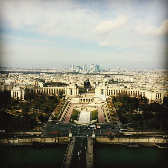 Paris France City Cityscapes Traveling Travel Tourists Panorama