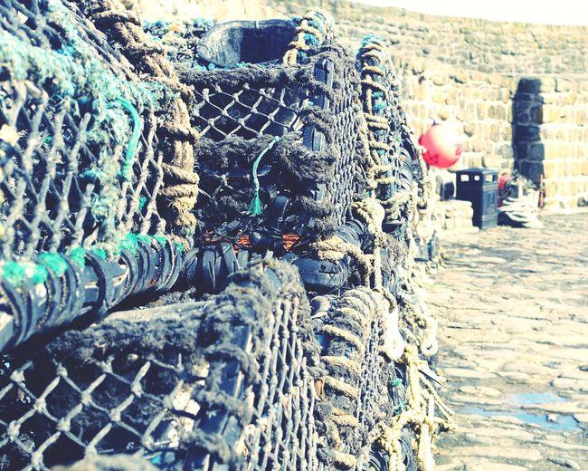 Fishing net at harbor
