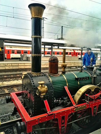 Der Adler im Nürnberger Hauptbahnhof Train Station Bahnhof Railway Steam Engine Dampflok Nürnberg Nuremberg Steam Locomotive Andrographer Snapseed Xecar Eisenbahn