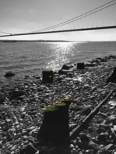Humber Bridge Foreshore Mud Rocks And Water Moss Colour Splash Hull City Of Culture 2017 Hull2017 GetAbsolutelyCultured