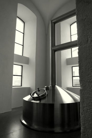 Austria Beer Black And White Blackandwhite Photography Brewery Brewing Beer Freistadt Full Frame Glass - Material Indoors  Industrial Industrial Design Industrial Photography Industrialbeauty Light And Shadow Metal Pattern Shadow Simplicity Window Windows