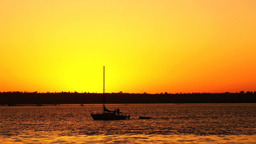 Sunset and Sailing Boat Take Picture in San Diego , Enjoying Life , Hang Out , Shadow , Check This Out Breathing Space