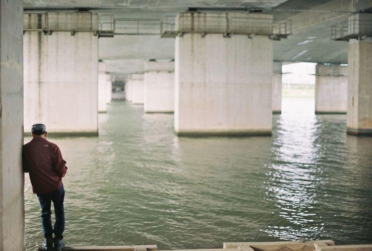 Up Close Street Photography Fuji Filmphotograhpy Korea Ulsan Minolta Man River Alone Miss