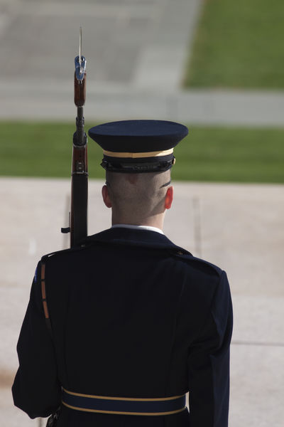 Arlington National Cemetary Arlington National Cemetery Tomb Of Unknown Soldier USAtrip Washington, D. C. America Arlington  Army Army Soldier Cap Day Men Military Military Uniform One Person Outdoors People Real People Rear View Standing Tomb Of The Unknown Soldier Uniform Weapon