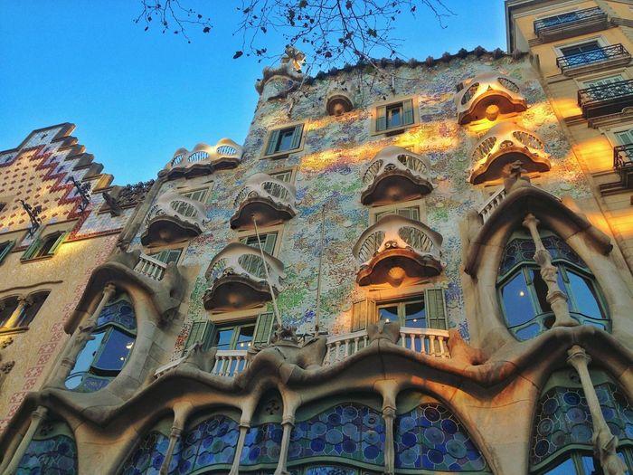 Casa Batlló, Barcelona, Spain Barcelonalove Passeigdegracia Gaudi Sky Architecture Building Exterior Built Structure