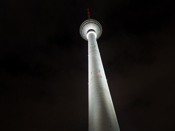 Communications Tower At Night