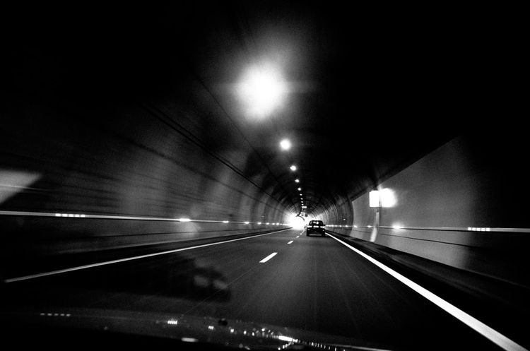 Atmosphere Black And White Car Errance Everybodystreet Mood No People On The Road Ricoh Gr Street Photography Streetphotography Sur La Route Tunnel
