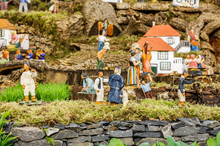 Madeira Island Adult Architecture Baby Jesus Crib Crib Figurine Day Men Mountain Nature One Person Outdoors People Real People Shepherds Women