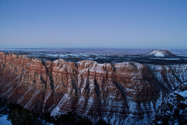 Idyllic Shot Of Grand Canyon National Park Against Sky During Winter