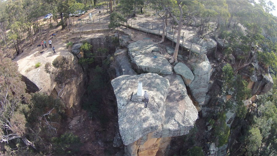 Abseiling at Mt Portal Lookout in the Blue Mountains. Abseilling Beauty In Nature Day Forest Growth High Angle View Moss Nature Outdoors Rock Rock - Object Rock Formation Rocky Mountains Scenics Textured  Tourism Tranquil Scene Tranquility Travel Destinations Tree Water