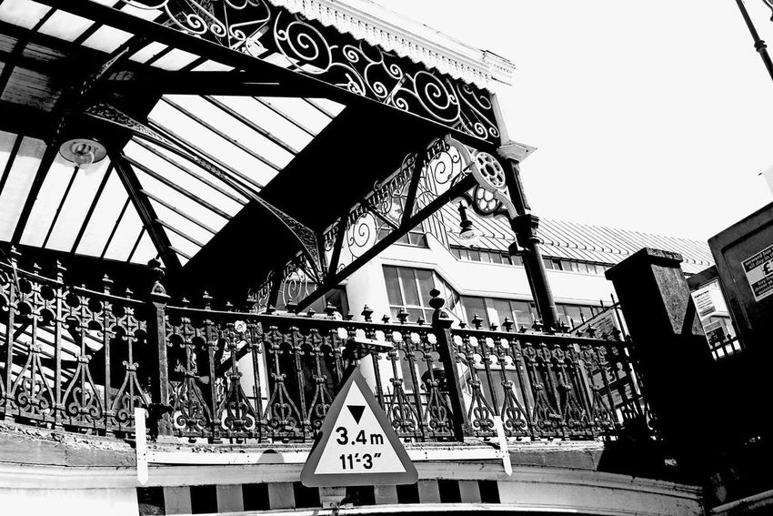 Black & White Train Station Cityscapes Streetphotography