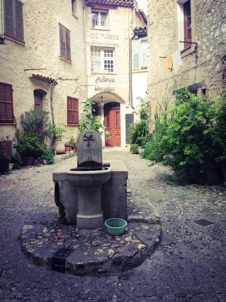 Citycenter Fountain Old Buildings Old Village Plant Provence Village Provencealpescôtedazur Stone Houses  Stone Wall