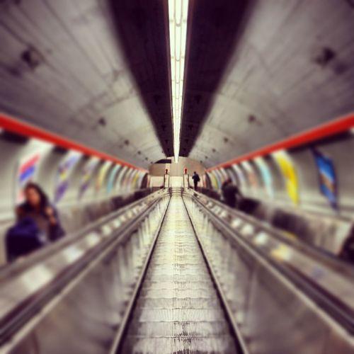 downstairs ... Escalator Streetart Eye4photography  Streetsofvienna