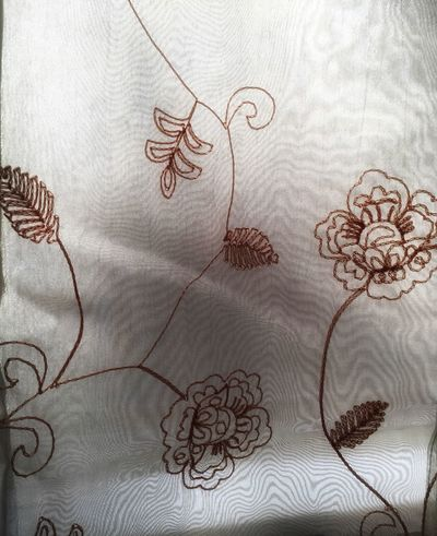 Curtain Embroidery Flowers Fabric Pattern Pieces Pattern Light