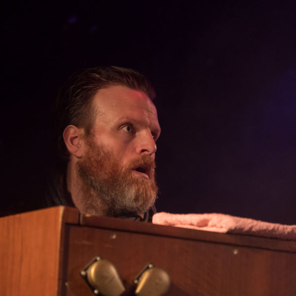 ADHD from Iceland: Soundscapes HAMMOND ORGAN Music Skill  Beard Black Background Close-up Concert Concert Photography Indoors  Musical Instrument Musician One Person People Real People Stage - Performance Space