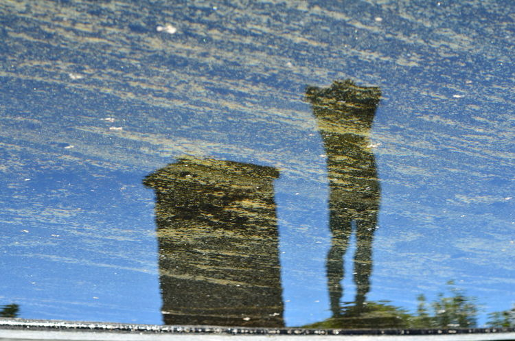 Abstract In The Water Plinth Reflections Sculpture Stockholm Stone Surfaces And Textures Torso
