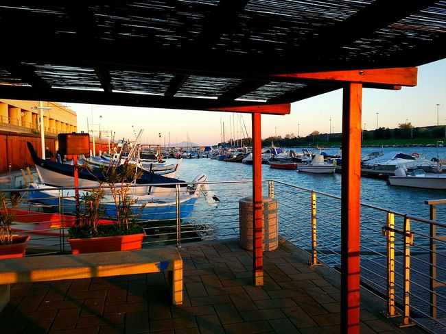 """""""Towards East at sunset"""". Boats Seaside Harbour Yacht Harbor Yacht Club Marina Seascape Barche Porticciolo at Sunset in Genova - Pra' / Smartphone Photography using a Galaxy Note 2 and Camerazoomfx in HDR shooting mode ( Triple Exposure) / This Is Where I Live... / Where I Went Today"""