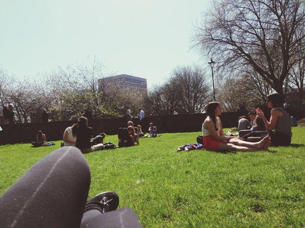 Lunch time Bristol Bristol, England Spring Sunshine People Outdoors Make Magic Happen