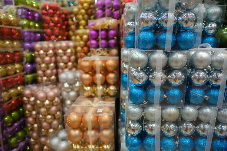 Close-up of candies for sale at market stall
