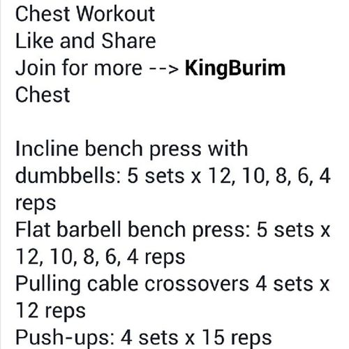 Chestday Chestworkout Reps
