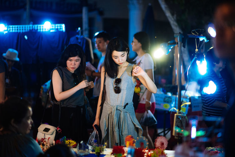 Group Of People Arts Culture And Entertainment Night Young Adult Young Women Illuminated Nightlife Women Enjoyment Indoors  Friendship Adult Standing Music Togetherness Waist Up Fun Nightclub Fashion Positive Emotion Market My Best Photo