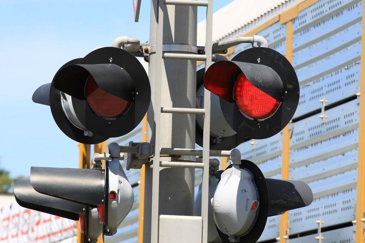 Close-up of traffic signal