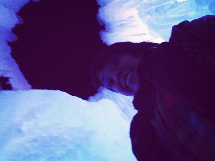 Selfie Inside Ice Castle