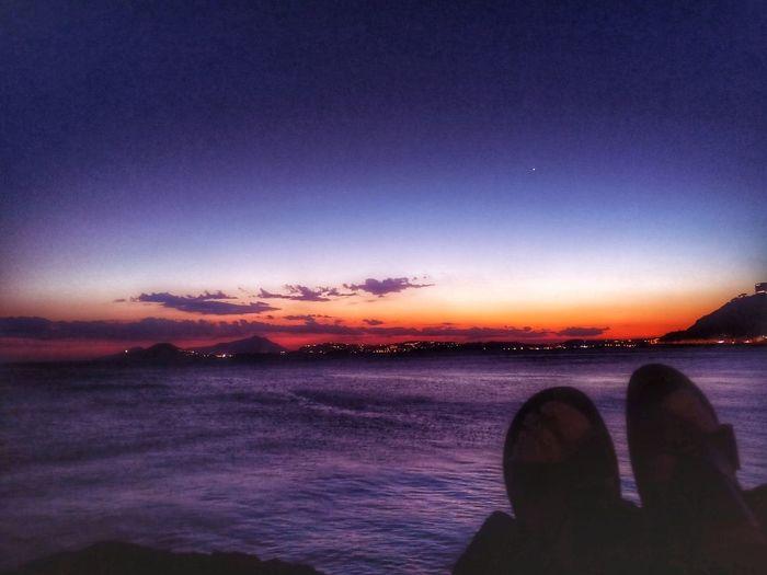 The Week On EyeEm EyeEm Selects Venere Happiness Sunlight Sea Beach Happyness Is A State Of Mind .. Sky Sunset Purple Sitting Feetselfie